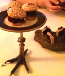 Pig's Liver with Chocolate and Mini Beet Burgers