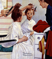 Norman Rockwell's First Trip To The Beauty Shop